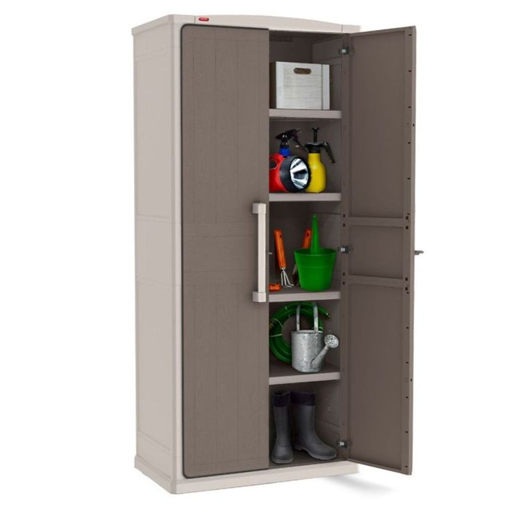 Outdoor Storage Cabinet Cupboard Garden Patio Tools Store 4 Adjustable Shelves