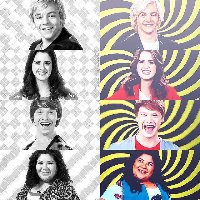 Here is a photo collage by @austin_e_ally_italia on Instagram and I honestly I am dead Because of the new theme song Opening and from The First 3 seasons to season 4 and it kills me Because of how much they've grown and changed Its bittersweet really