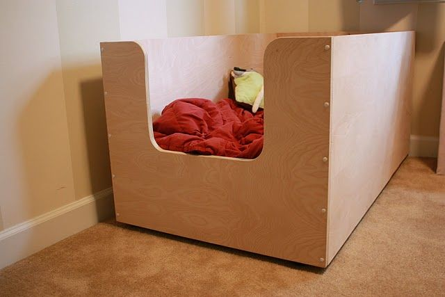 toddler bed how- to.based off these cool beds!  http://pinterest.com/pin/17451329/  .. make your own modern toddler bed tutorial