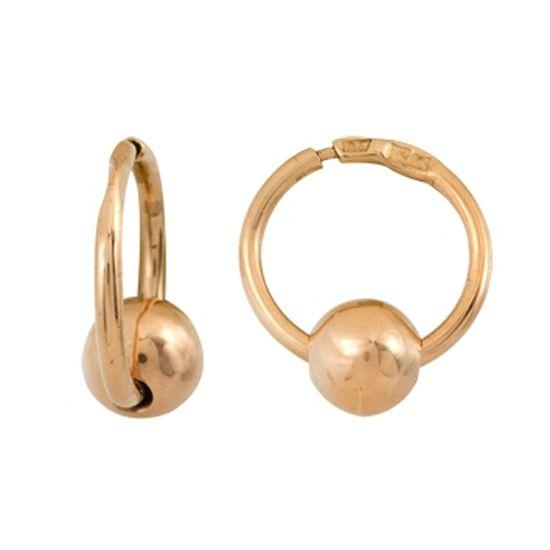 Чувственный пирсинг кольцо для брови из красного золота 1400025012 / золотой пирсинг брови