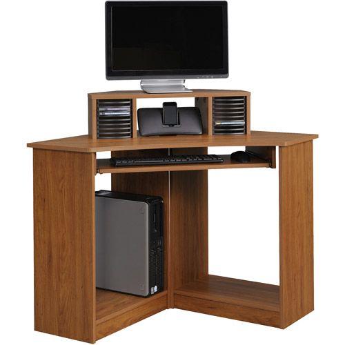 Meuble en coin pour ordinateur 50 1 4 x 50 1 4 en m lamine couleur ima - Meuble ordinateur coin ...