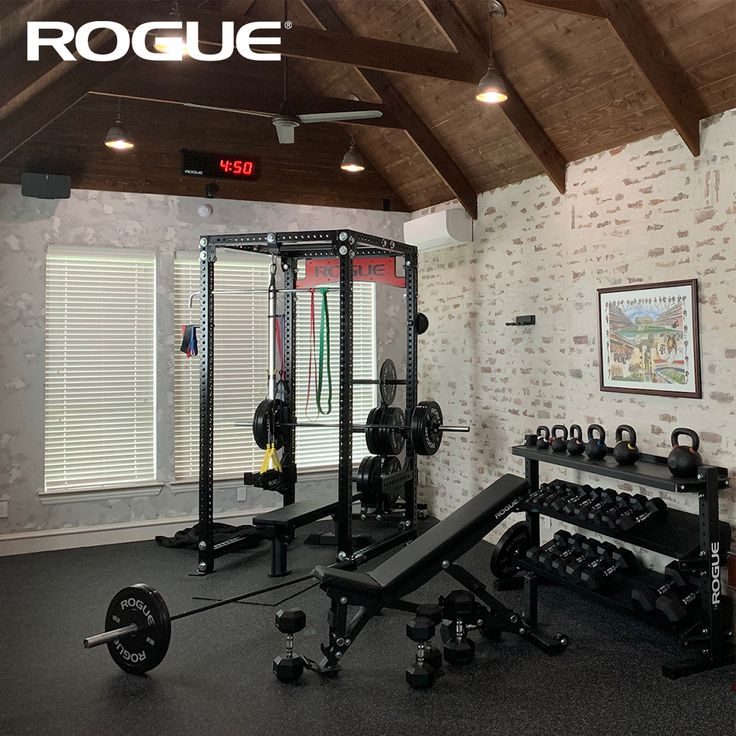 Garage gym equipment rogue fitness in 2021 gym room at