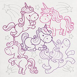 Creature Feature - Unicorn Party design (UT10225) from UrbanThreads.com