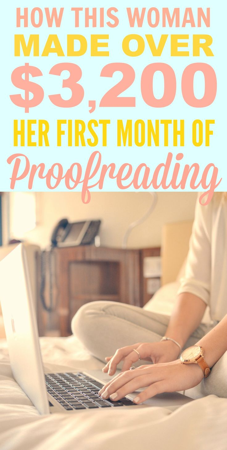How this woman made over $3,200 her first month of proofreading is INCREDIBLE! I'm so happy I found this AWESOME find! Now I can have another way to work from home! Definitely pinning for later!