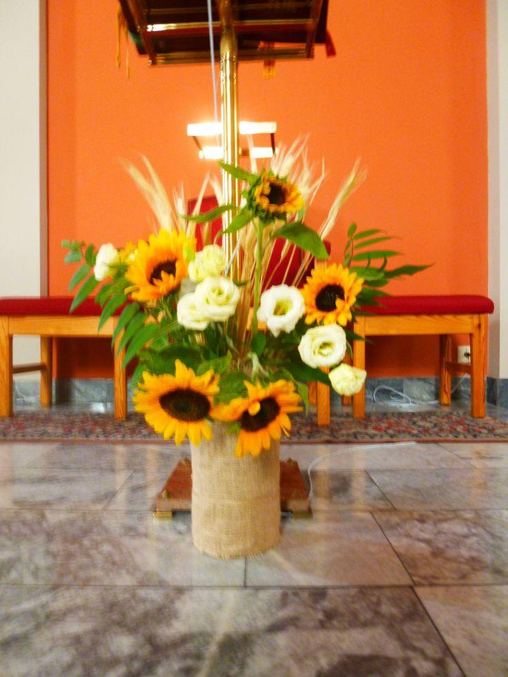 Dożynki parafialne - dekoracja pulpitu