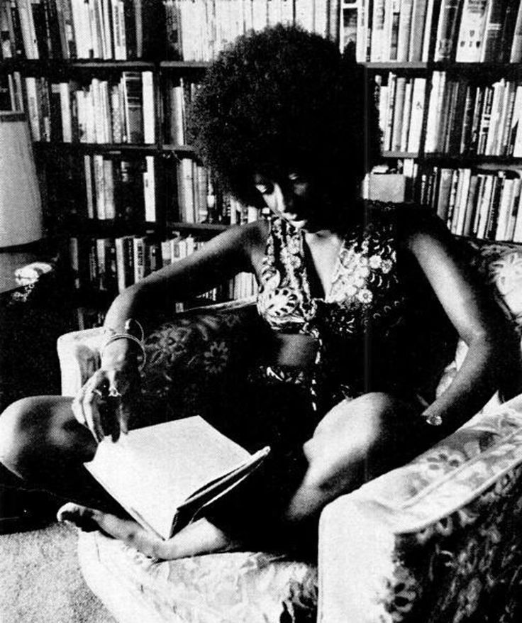 Natalie Cole reads in 1973.