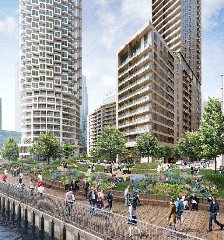 Herzog & de Meuron Skyscraper Unveiled for New Canary Wharf Development