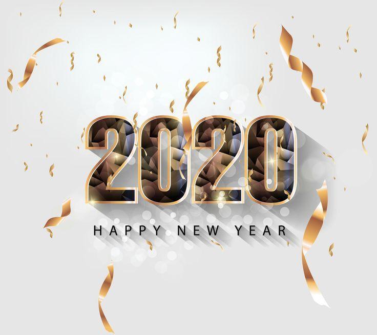 Frohes Neues Jahr 2020 Bilder Hintergrundbilder Bonne Annee Carte De Voeux Message Bonne Annee