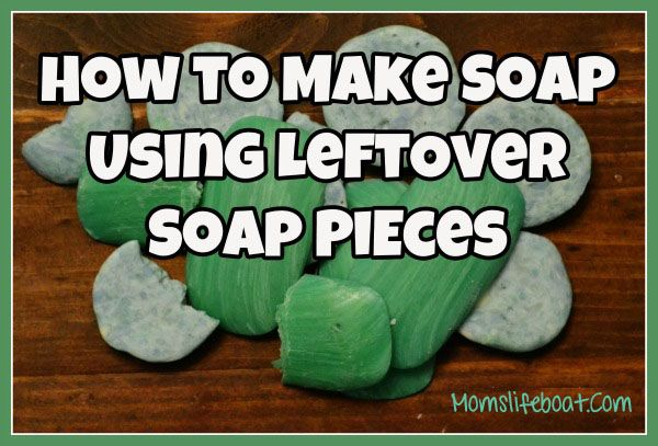 How to make soap using leftover soap pieces. This easy tutorial will save you money and show you how to convert your leftover soap and make a new bar soap