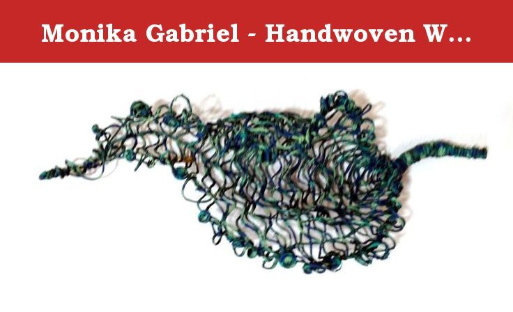 Monika Gabriel - Handwoven Wire - Desert Leaf 21 x 8. This new series of wire work reflects my still new inspiration, the Sonoran Desert right behind my house. With the shifting light throughout the day, I am so often amazed at the colors and textures in this beautiful environment of cacti, trees, shrubs, mountains and rocks. My interpretation of what I see has been expressed with large and small wire sculptures for over 20 years. And I am excited to add yet another dimension to this work...