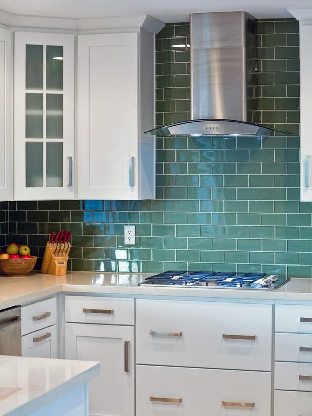 30 Colorful Kitchen Design Ideas From. Green Subway TileSubway ... - 17 Best Ideas About Green Subway Tile On Pinterest Subway Tile