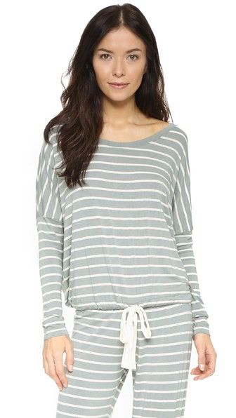 Eberjey Lounges Stripe Slouchy Top