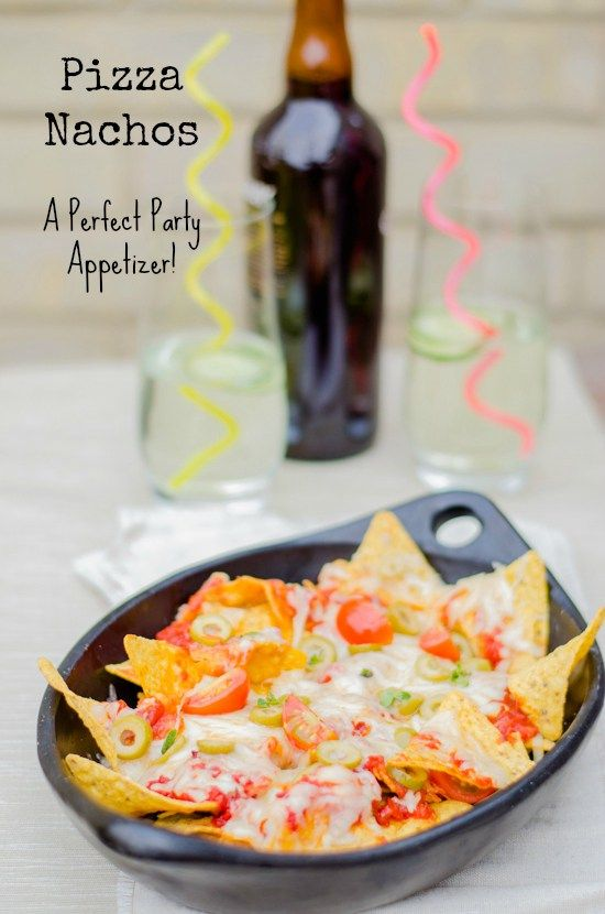 Pizza Nachos - a perfect party appetizer