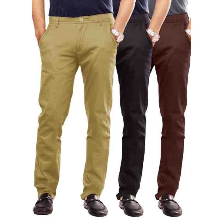 Uber Urban Mens Stretch 100% Cotton Lycra Sleek pant Slim Beige::Black::Brown Trouser at just Rs. 1699. Get these trouser visit us at Uberurban.in