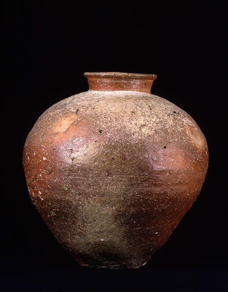 Title Large Jar, known as OBOKO Provenance Shigaraki kiln, Shiga pref. Period Muromachi period Century 15c Materials Shigaraki ware Dimensions H-46 D-44 Formerly in the collection of Domon Ken