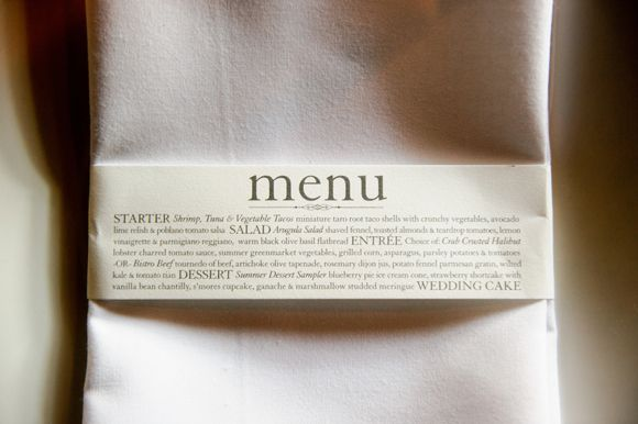 67 Best Images About Napkin Rings Menu Cards On: Menu On The Napkin Ring