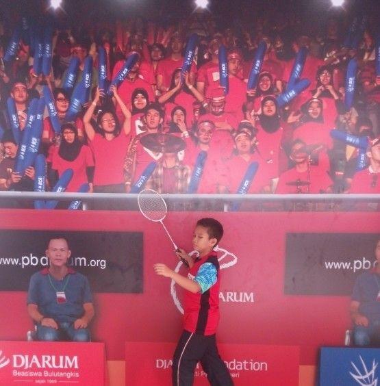 Selfie on Indonesia Open 2015..Istora Senayan Jakarta