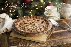 Low Carb Pecan Pie, sugar free pecan pie, gluten free pecan pie, low carb pie crust, gluten free pie crust, sugar free dessert, pecan pie recipe