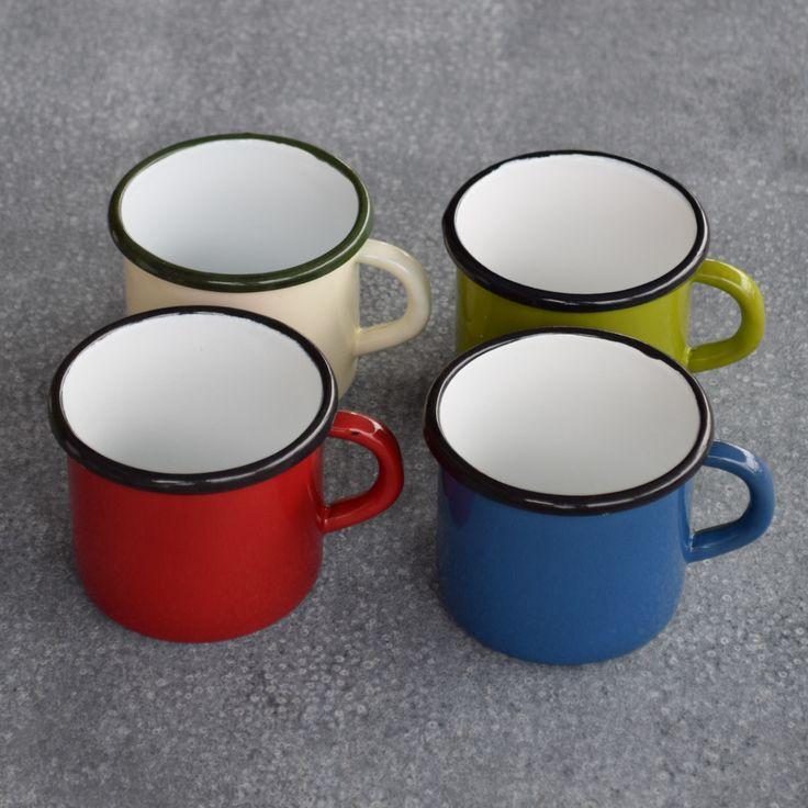 Romanian enamel mug