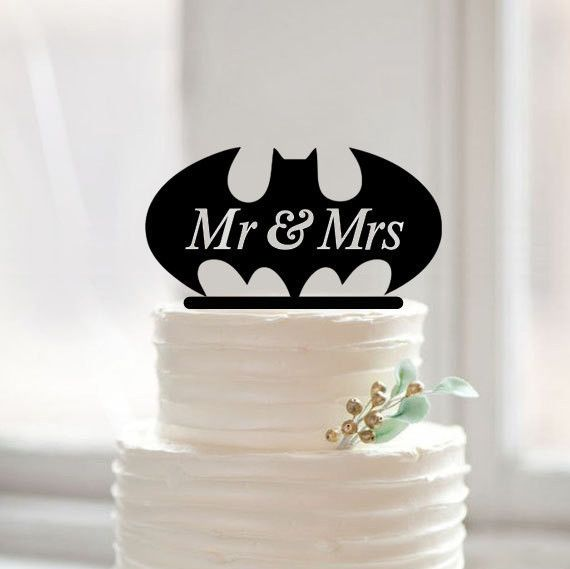 "Wedding Cake Topper (Cartoon Comics TV Movie Theme /Creative Funny) Material: Acrylic - Color: Black Approx. Size: - 6.3"" x 5.2"" (16cm x 13cm) - Style: Mr & Mrs, Cartoon /Comics /TV & Movie Character"