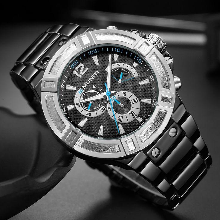 Sport Chronograph Watches Waterproof Luminous Military Watches for Men Stainless Steel Quartz Watch online - NewChic