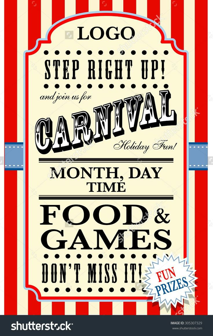 13 best carnival flyer ideas    images on pinterest