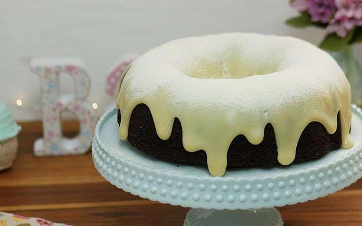 O incrível bolo vulcão de chocolate e leite ninho