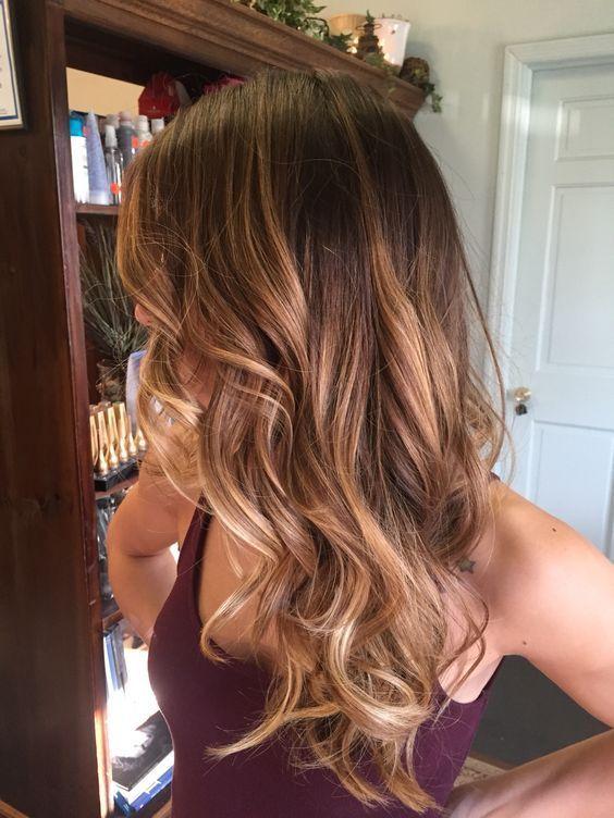 Chestnut hair bayalage