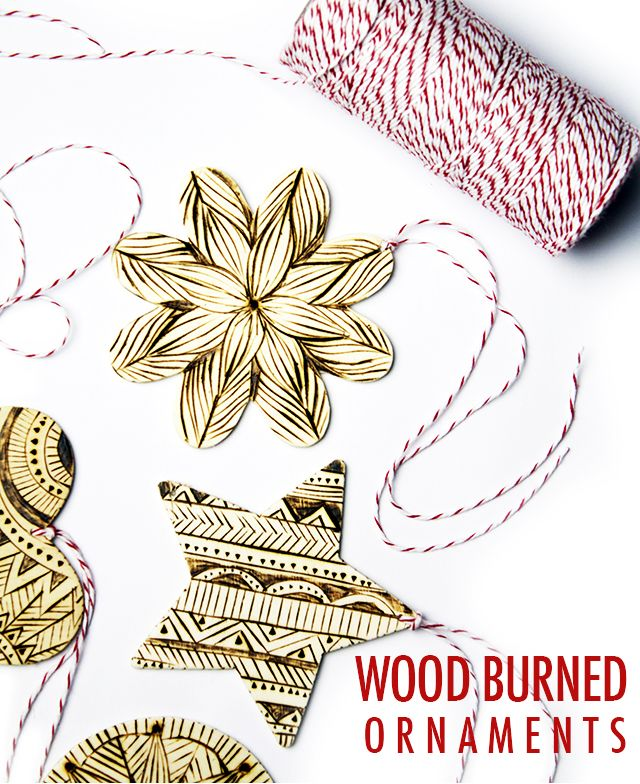 alisaburke: wood burned ornaments