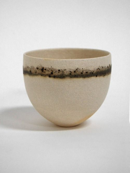 s-c-r-a-p-b-o-o-k:  Jennifer Lee - Pale, olive and speckled bands, 2008 stoneware