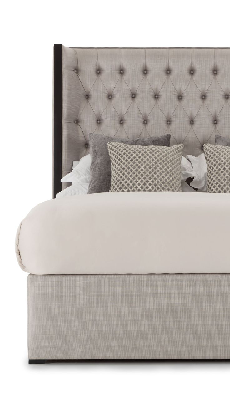 William Is A Modern Interpretation Of The Wingback Bed That Will Add  Sophistication To Any Bedroom. Luxurious, The Deep Buttoned Headboard Is  Outlined In ...