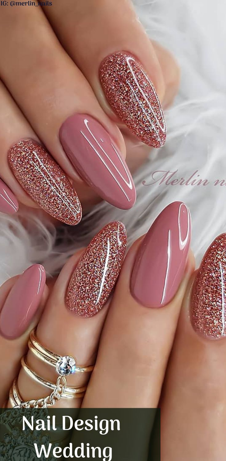 25 Crazy Nail Design Wedding To Match With Your Outfits – Nails