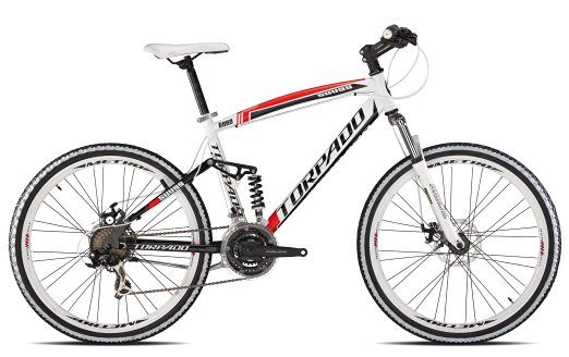 Torpado bici mtb full suv99 26'' alu 3x7v disco taglia 44 bianco rosso (MTB…