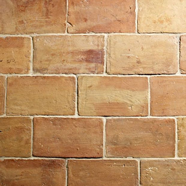 Handmade French Reclaimed Parefeuille Nimes Terracotta
