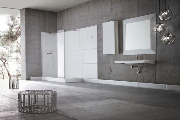 Гибкая геометрия пространства  Дизайнер Карло Даль Бьянко (Carlo Dal Bianco) разработал для компании Rexa Design необычную сантехническую коллекцию с 3D эффектом: #ванна и душевая кабина, #раковина и полки, унитаз и биде, шкафы и зеркала как будто вырастают прямо из стен.
