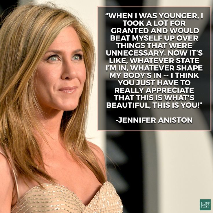 Jennifer Aniston talks about accepting your own beauty.