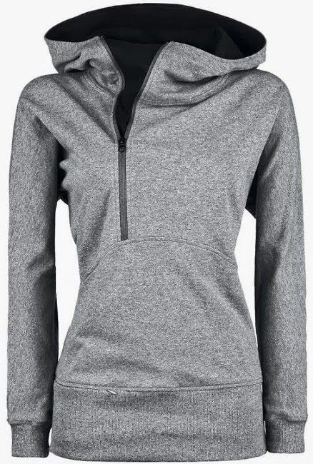 Very Nice Grey Hoodie for Women. Very Suitable for Sport and Also Fashionable