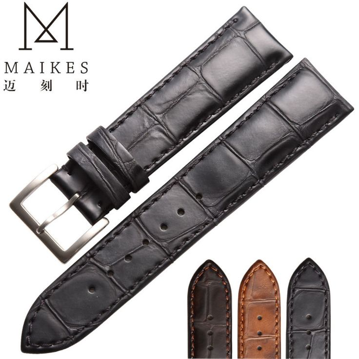21.59$  Buy now - http://aliuvm.shopchina.info/go.php?t=32644944918 - MAIKES Factory Direct Sale Price Black Brown Genuine Leather Watch Strap Band 18mm 20mm 22mm For daniel wellington  #magazineonline