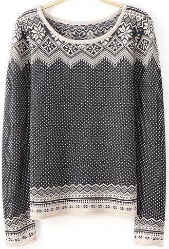 Pullover Langarm mit Tupfen, schwarz 16.90