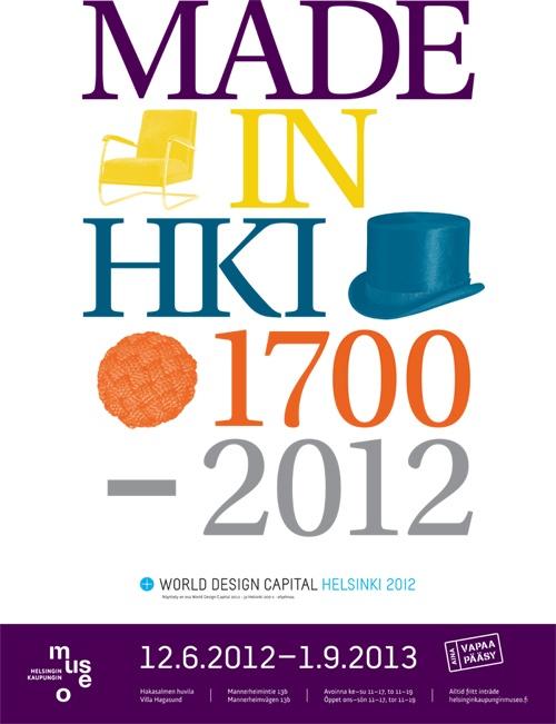 Made in Helsinki -näyttely esittelee helsinkiläisen muotoilun historiaa Hakasalmen huvilassa 12.6.2012 - 1.9.2013