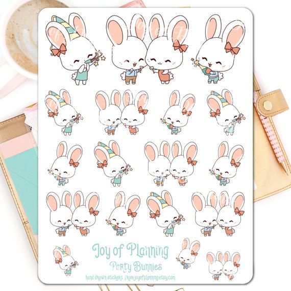 Party planner stickers planning party stickers by JoyofPlanning