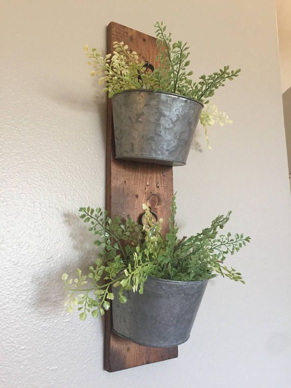 Indoor Wall Planter Wall Planter Farmhouse Decor Rustic Wall