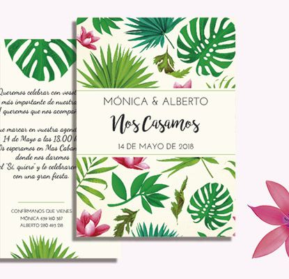 Invitaciones Tropical