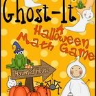 Freebie Ghost-It! Game  An October and Halloween Mathematics Game.   ~ Perfect for an October Math Center!  ~ Game Instructions included  ~ Printab...