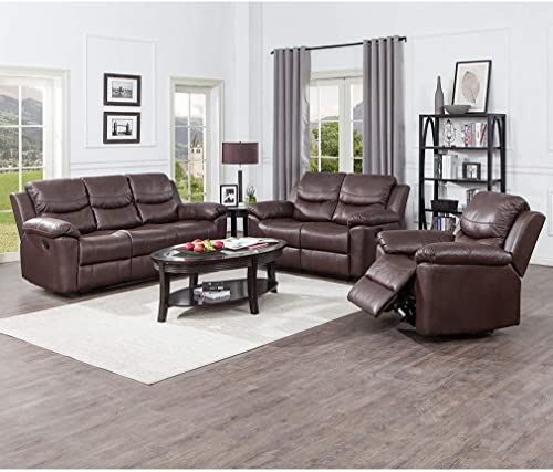 Best Buy Juntoso 3 Pieces Recliner Sofa Sets Bonded Leather 400 x 300