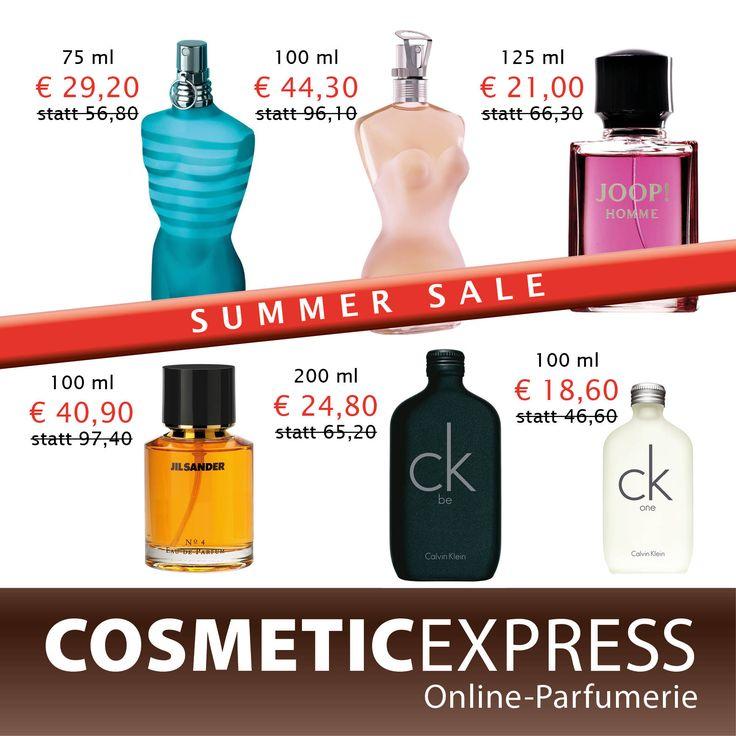 #cosmeticexpress #Summer #Sale #Aktion #tollePreise #Schnäppchen Holen Sie sich Ihren Lieblingsduft um Aktionspreis auf www.cosmeticexpress.com