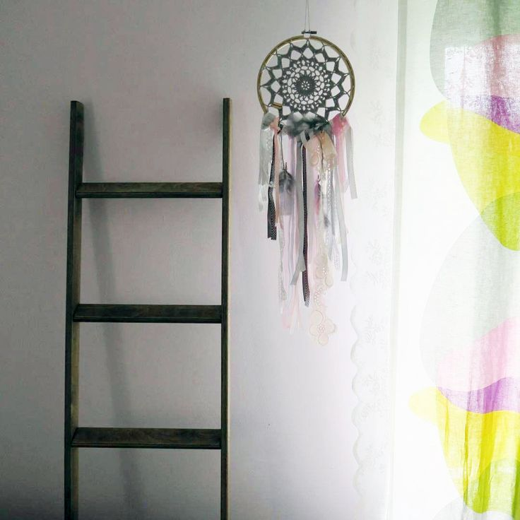 Opalona Ewka - drabinka dekoracyjna w kolorze palony dąb