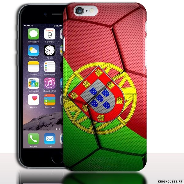 Coque iPhone 6 Foot Equipe Portugal - Coque originale iPhone. #iPhone6 #Portugal #FootBall #Team #Case #Coque