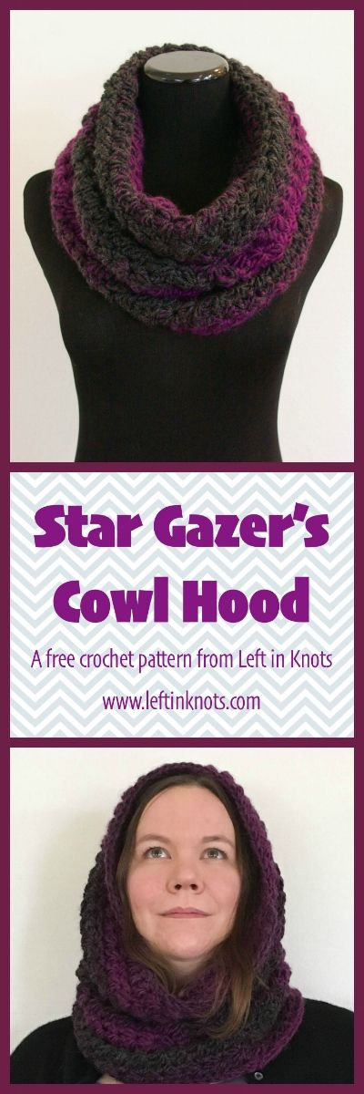 Seven Days of Scarfie starts today with the Star Gazer's Cowl Hood! A free  one-skein pattern to help you finish your gift list. Come back for the  next six days for a new free pattern each day!