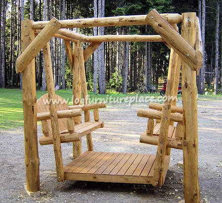 We Carry This Twist Of Nature Red Pine Log Double Yard Swing, And Other  Fine American Made Rustic Furniture And Décor. Browse Our Rustic Furniture  Catalogs ...